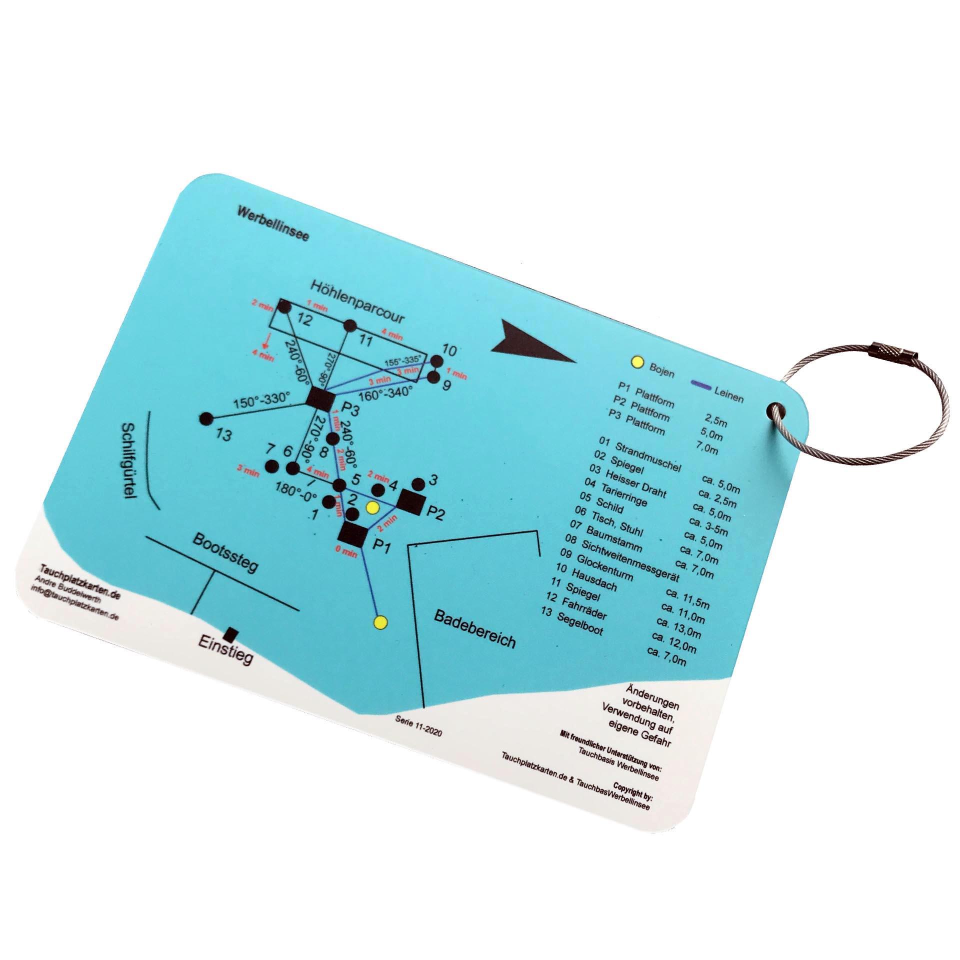 """Tauchplatzkarte """"Werbellinsee"""""""