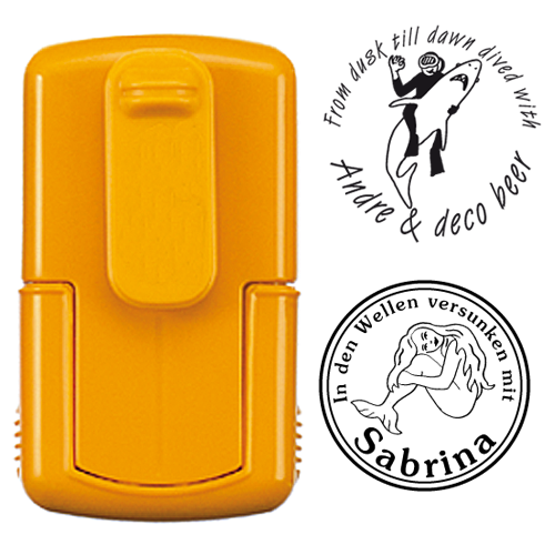 smart-stamp, vollton gelb, ø 24 mm