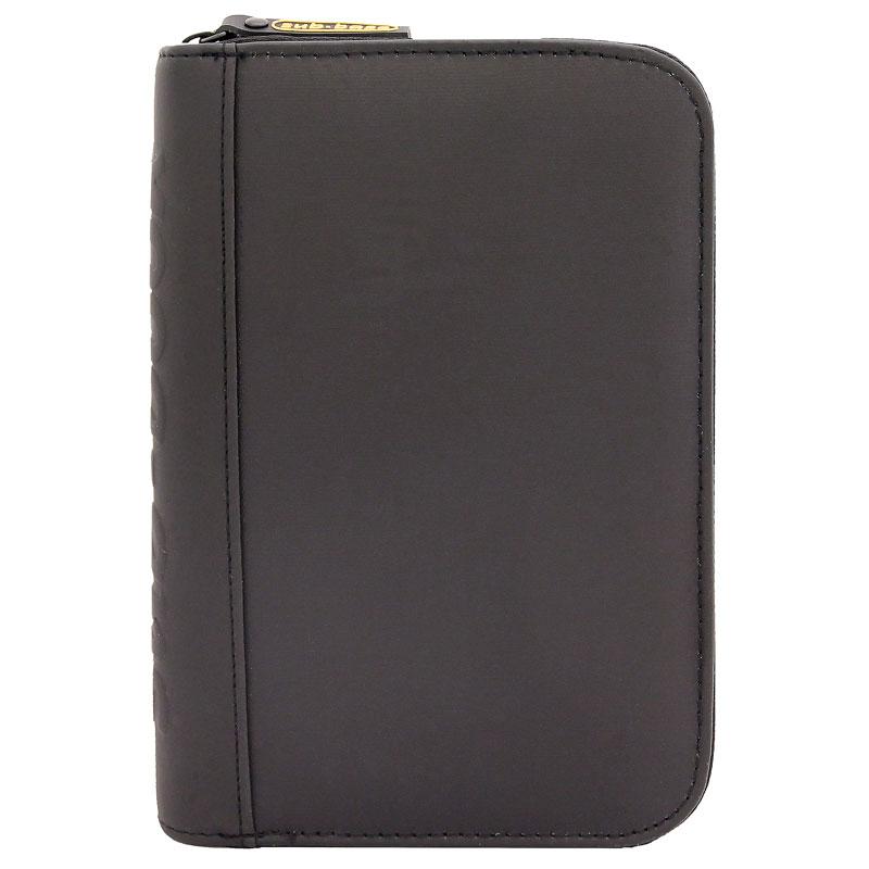 TRAVEL sub-book, schwarz mit silbernem Reissverschluss, ohne Motiv, mit Innenteil