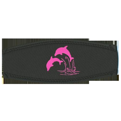 Maskenband, pinke Delfine