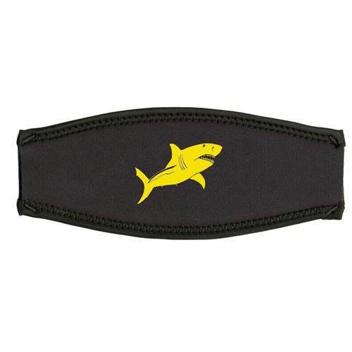 Maskenband, weisser Hai, gelb