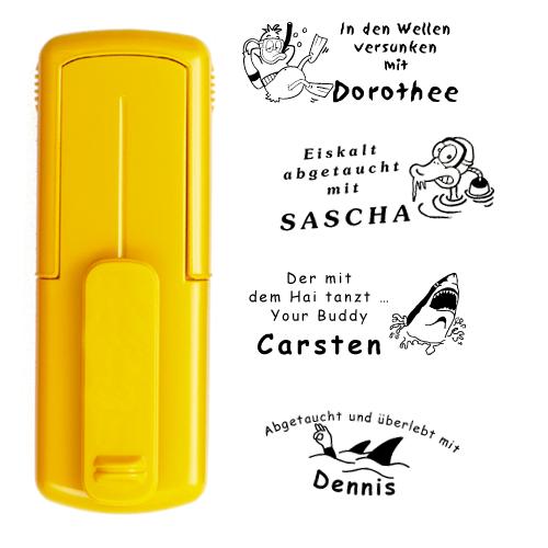 smart-stamp, gelb, 38 x 14 mm