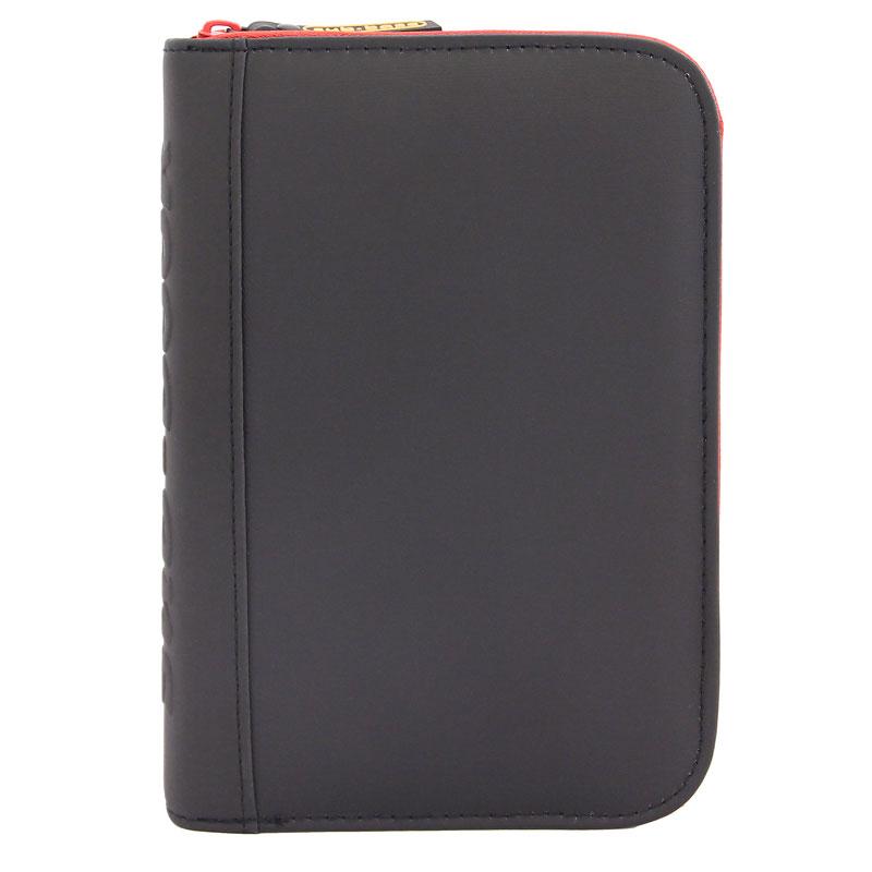 TRAVEL sub-book, schwarz mit rotem Reissverschluss, ohne Motiv, mit Innenteil