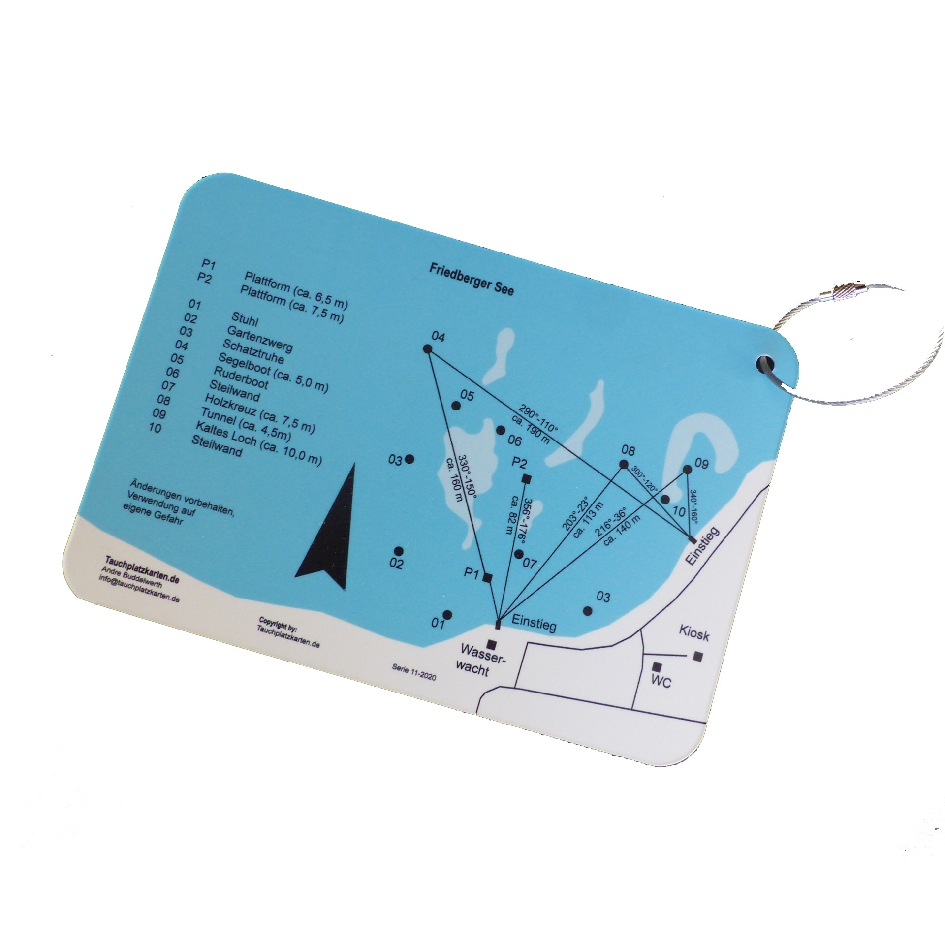 """Tauchplatzkarte """"Friedberger Baggersee"""""""