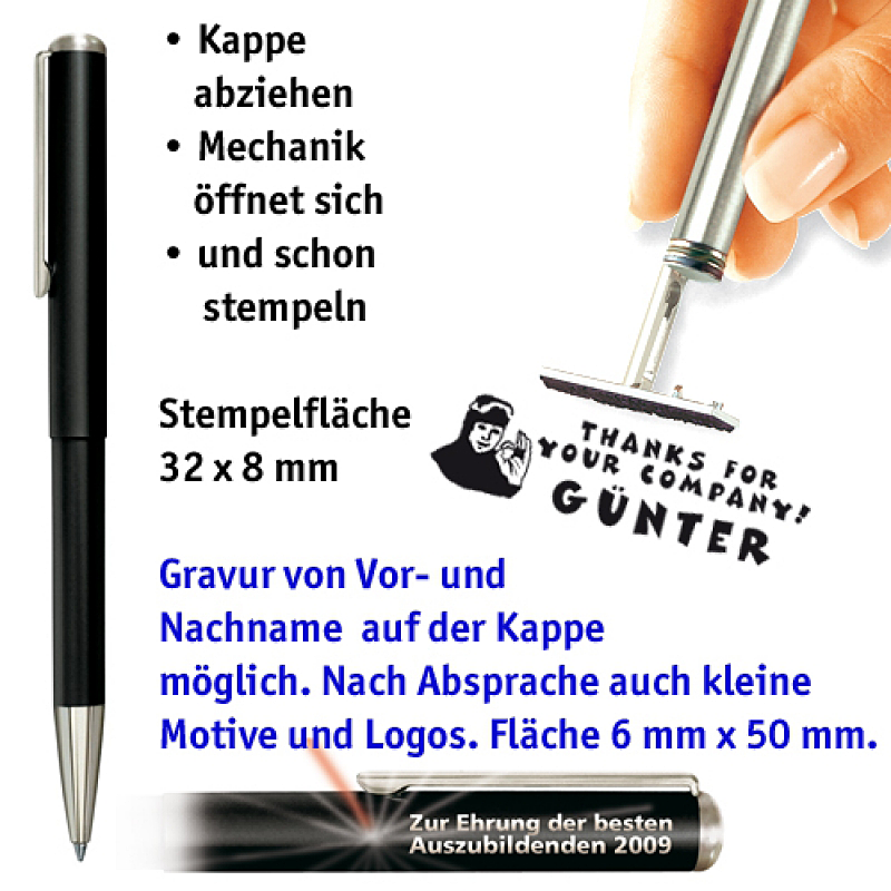 Ganzmetallkugelschreiber, schwarz