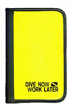 sub-book B-Ware, gelb, Dive now - work later, mit Innenteil