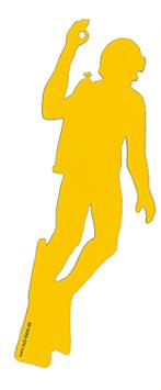 Autoaufkleber gelb