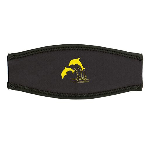 Maskenband, Delfine, gelb