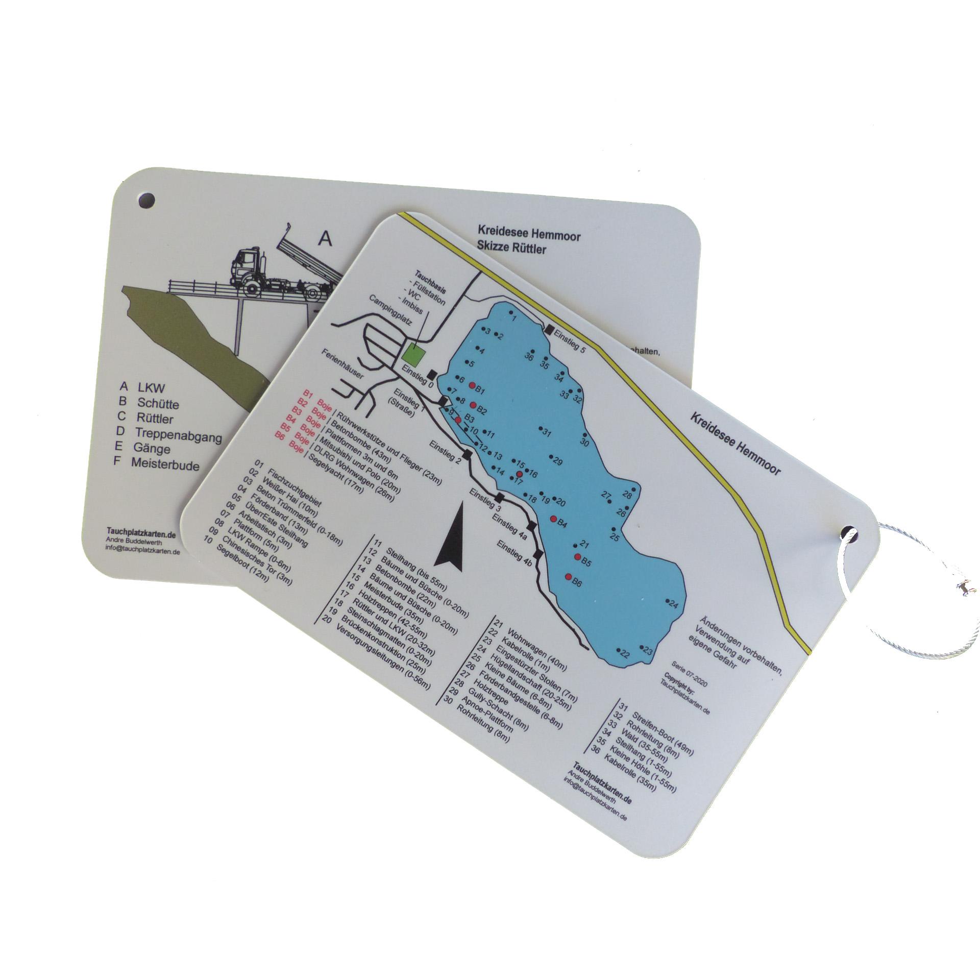 "Tauchplatzkarte ""Kreidesee Hemmoor"""