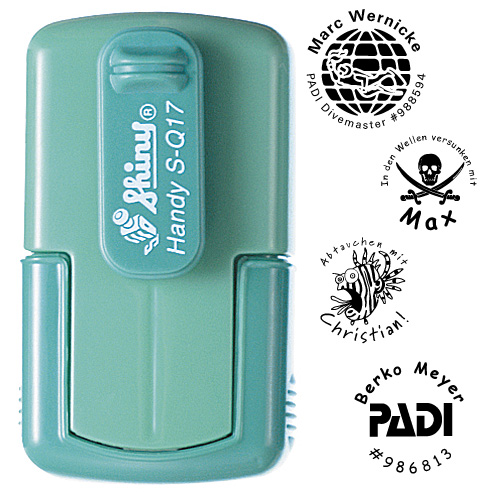 smart-stamp, spring green, ø 17 mm