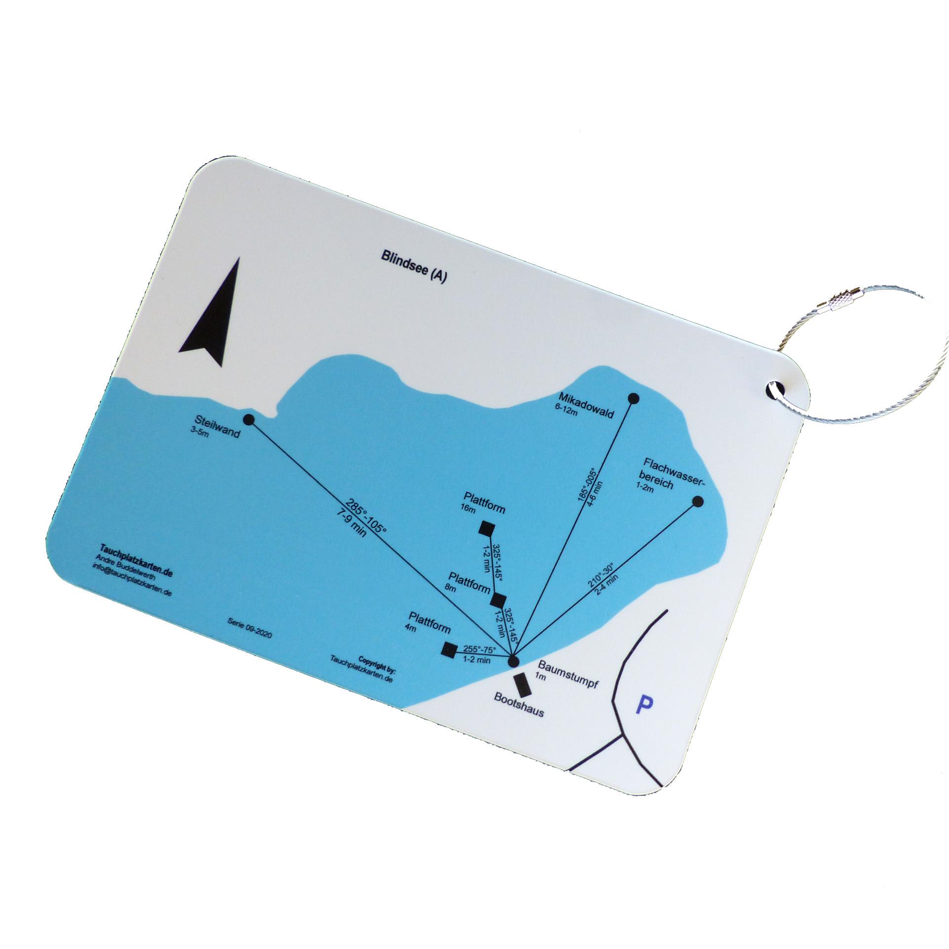 """Tauchplatzkarte """"Blindsee"""" (A)"""