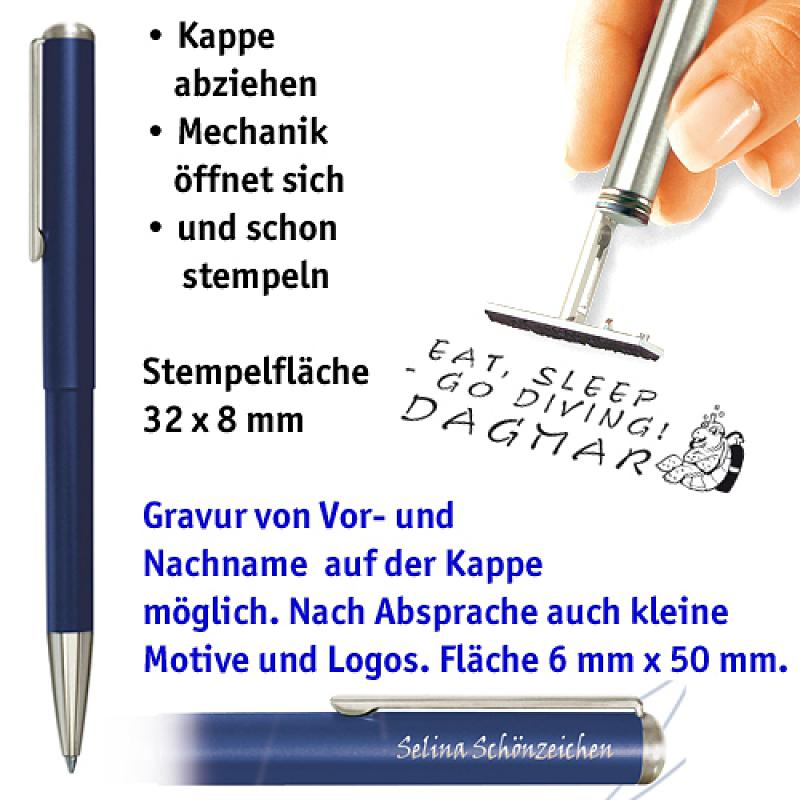 Ganzmetallkugelschreiber, blau