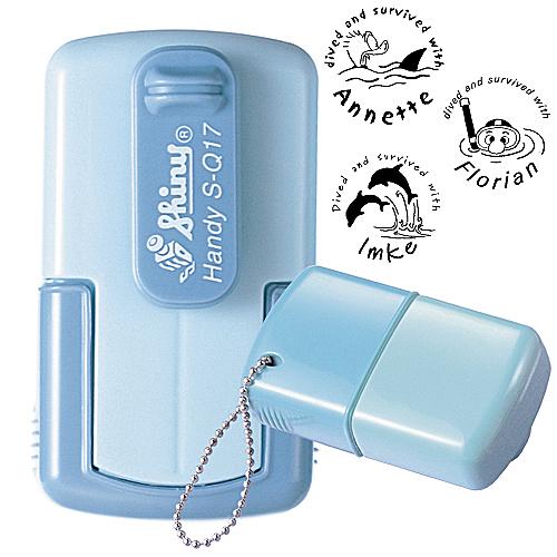smart-stamp, skyblue, ø 17 mm