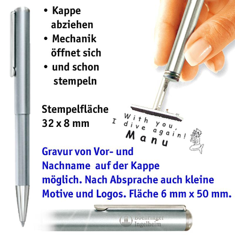 Ganzmetallkugelschreiber, silber