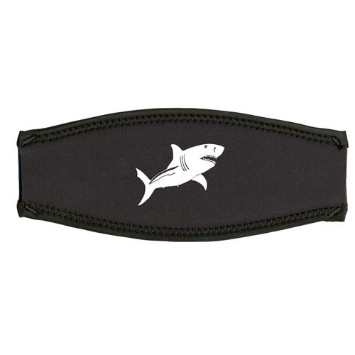 Maskenband, weisser Hai, weiss