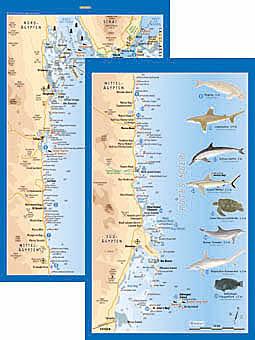 Tauchplatzkarte Rotes Meer, Ägypten