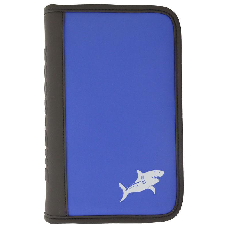 sub-book blau, weisser Hai, mit Innenteil