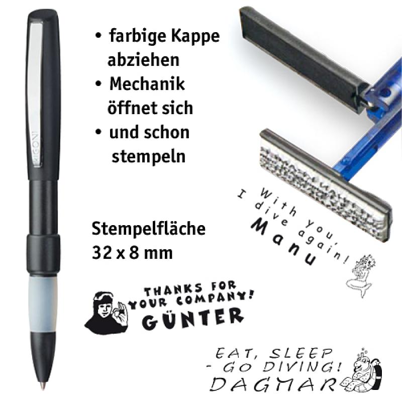 Stempelkugelschreiber SWITCH anthrazit